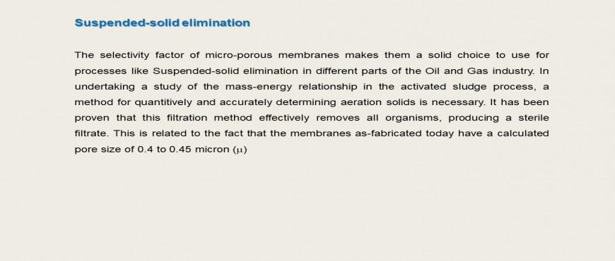 Membranes technology